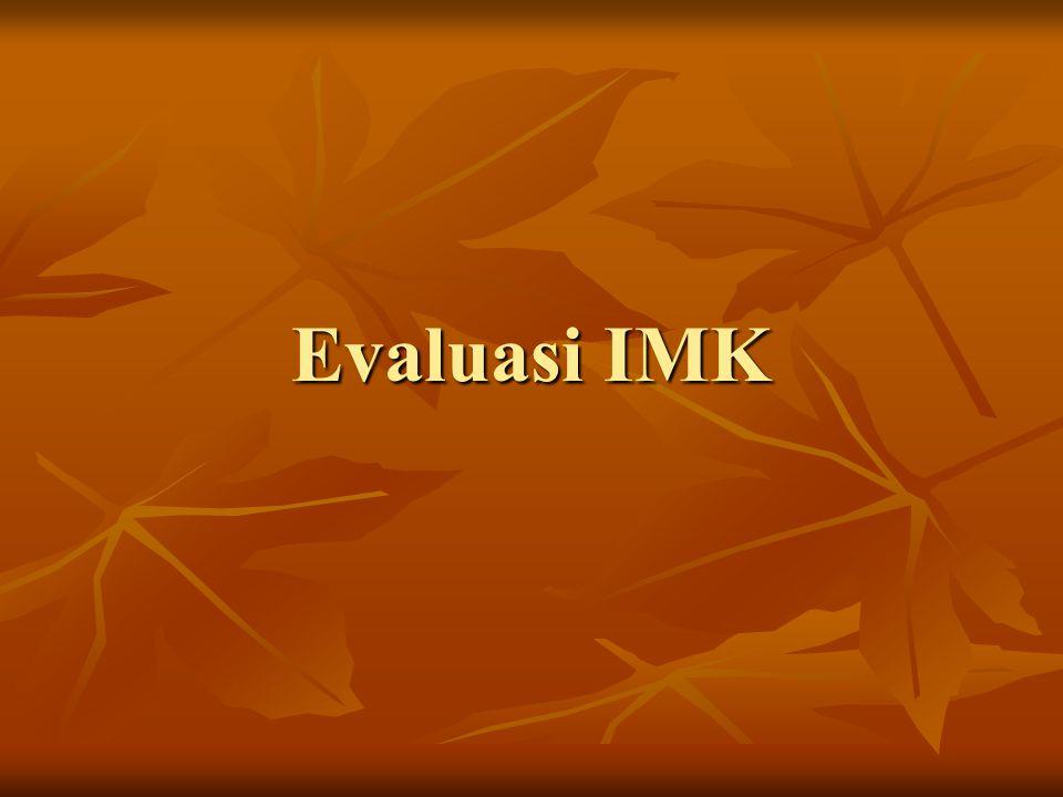 Evaluasi IMK