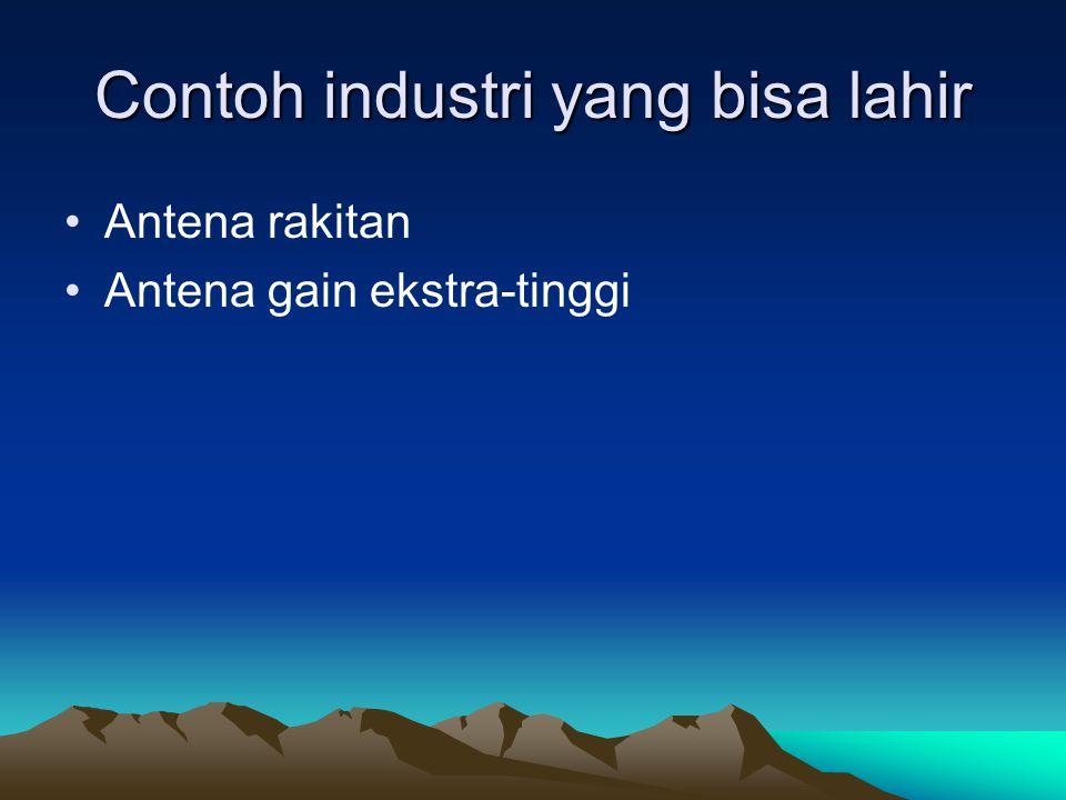 Contoh industri yang bisa lahir
