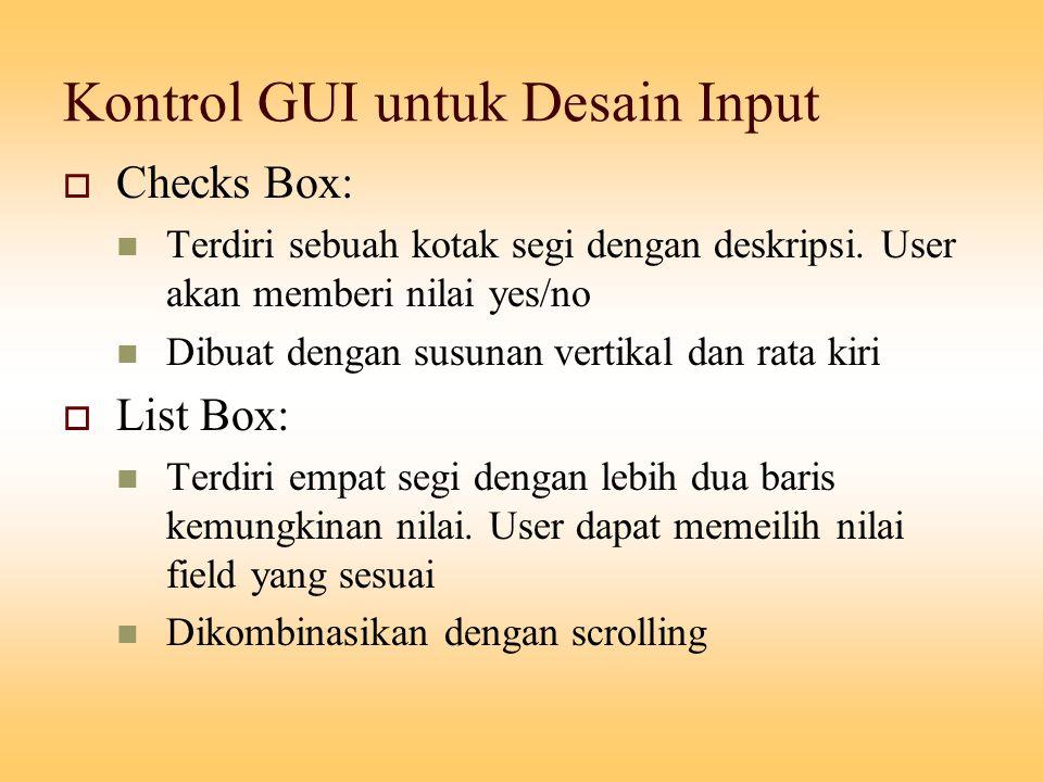 Kontrol GUI untuk Desain Input