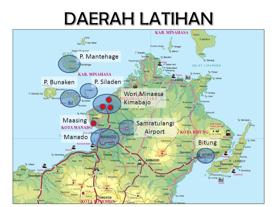 DAERAH LATIHAN P. Mantehage P. Bunaken P. Siladen Wori,Minaesa