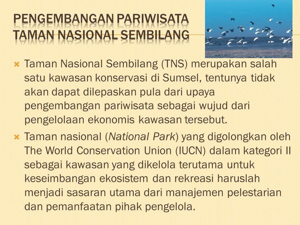 Pengembangan pariwisata taman nasional sembilang