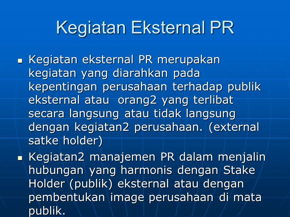 Kegiatan Eksternal PR