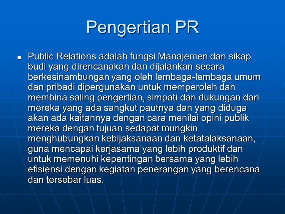 Pengertian PR