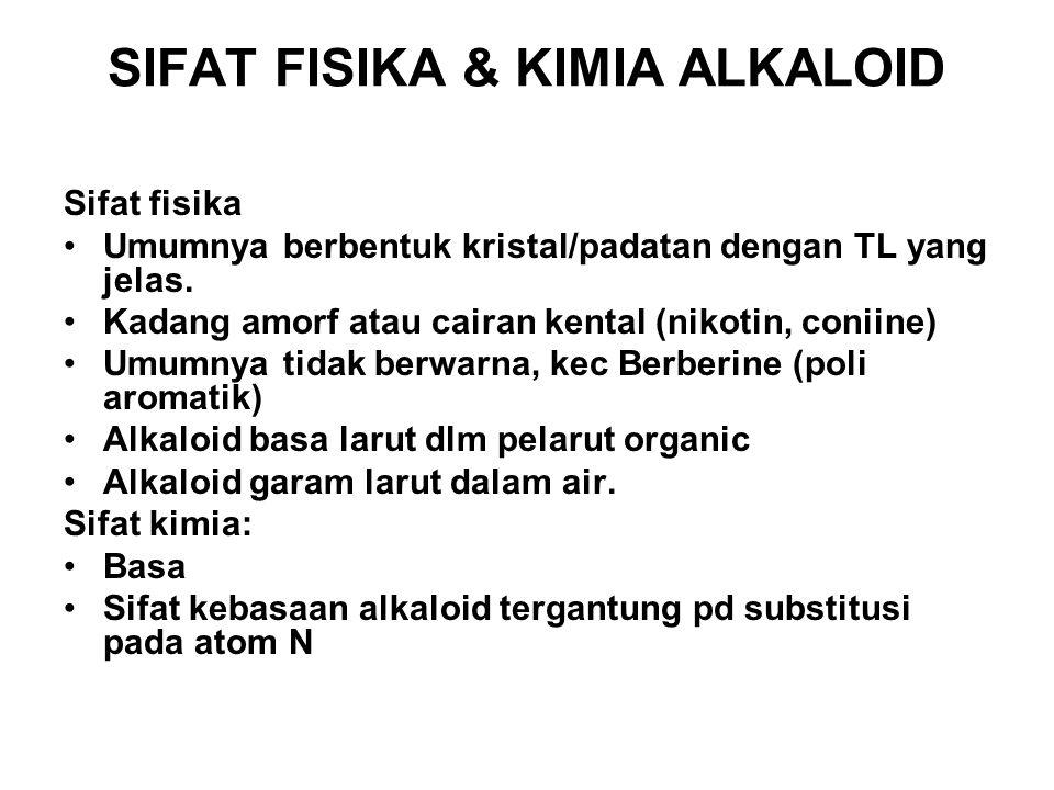 SIFAT FISIKA & KIMIA ALKALOID