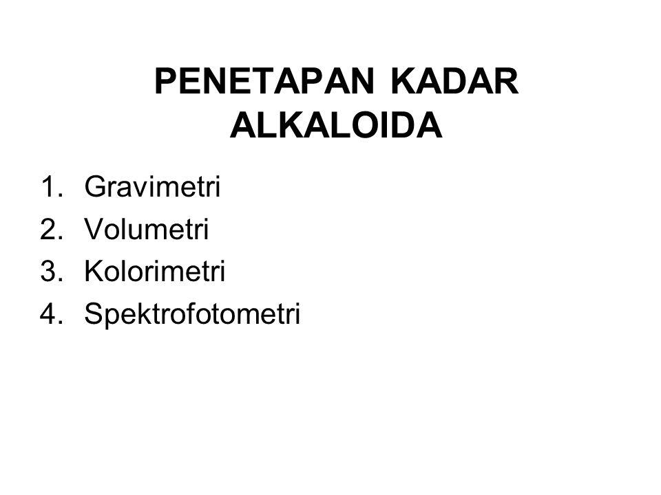 PENETAPAN KADAR ALKALOIDA