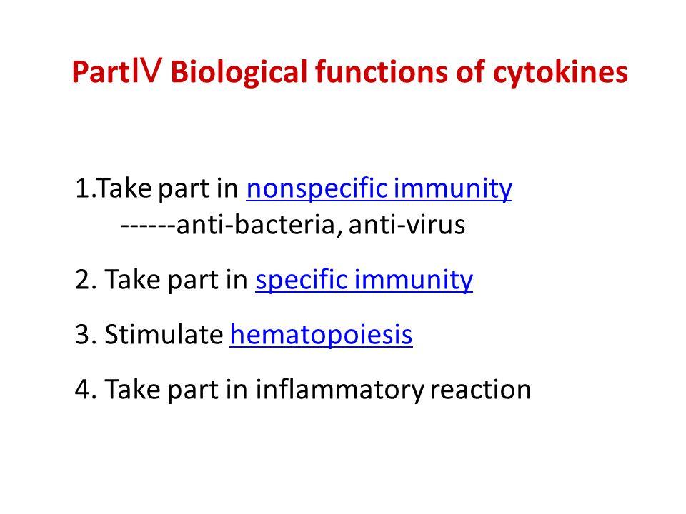 PartⅣ Biological functions of cytokines