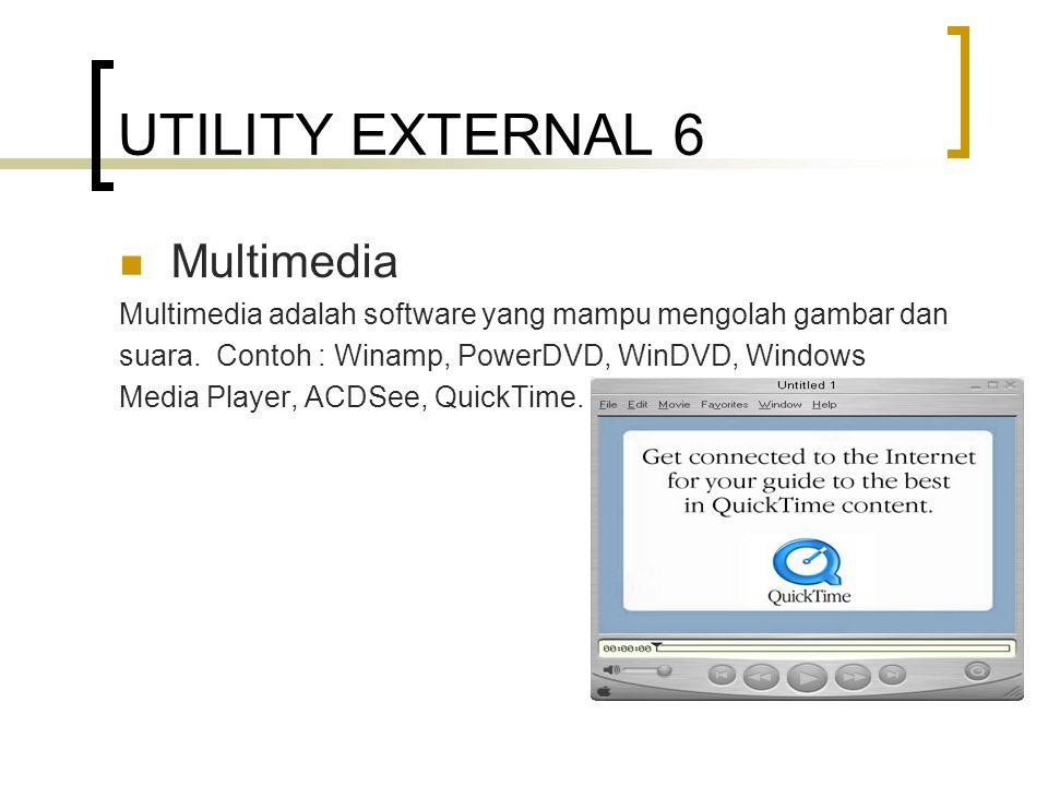 UTILITY EXTERNAL 6 Multimedia