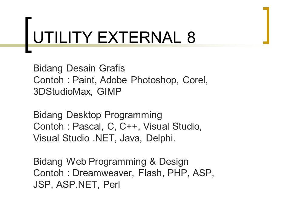 UTILITY EXTERNAL 8 Bidang Desain Grafis