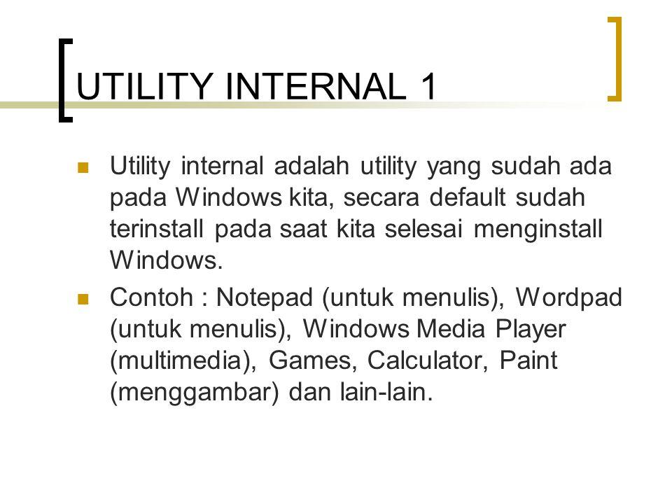 UTILITY INTERNAL 1