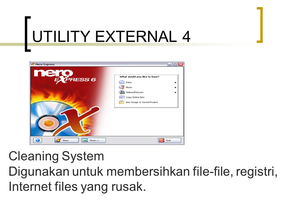 UTILITY EXTERNAL 4 Cleaning System