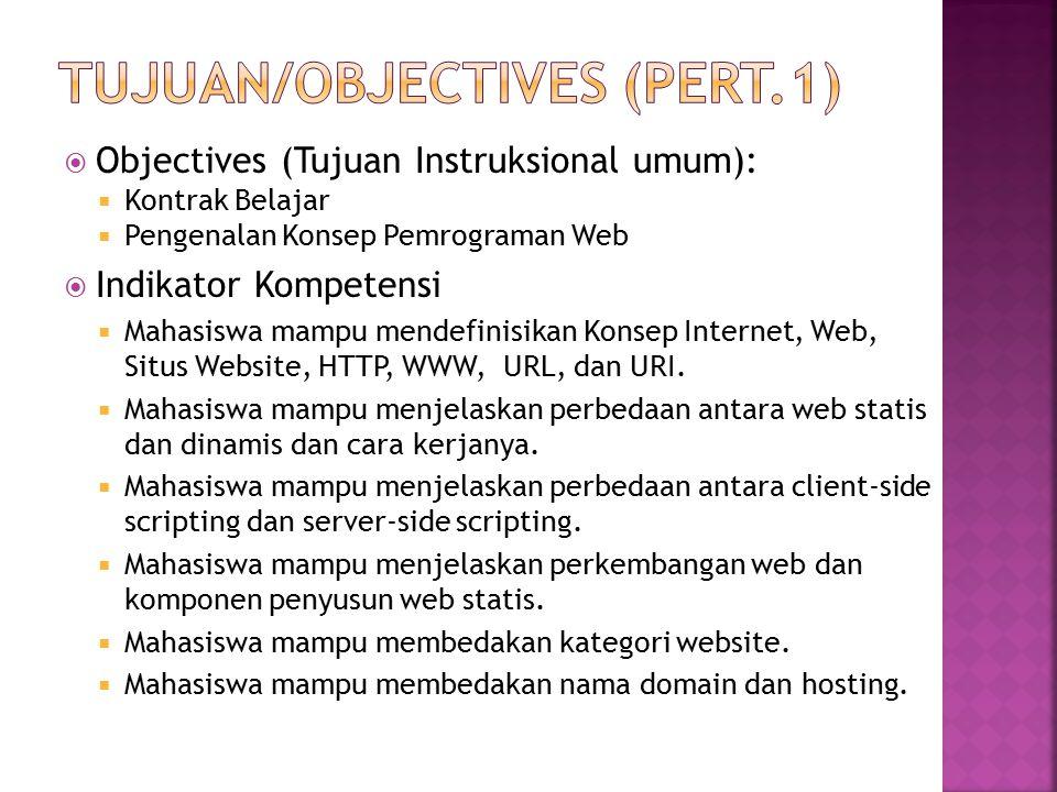 Tujuan/objectives (pert.1)
