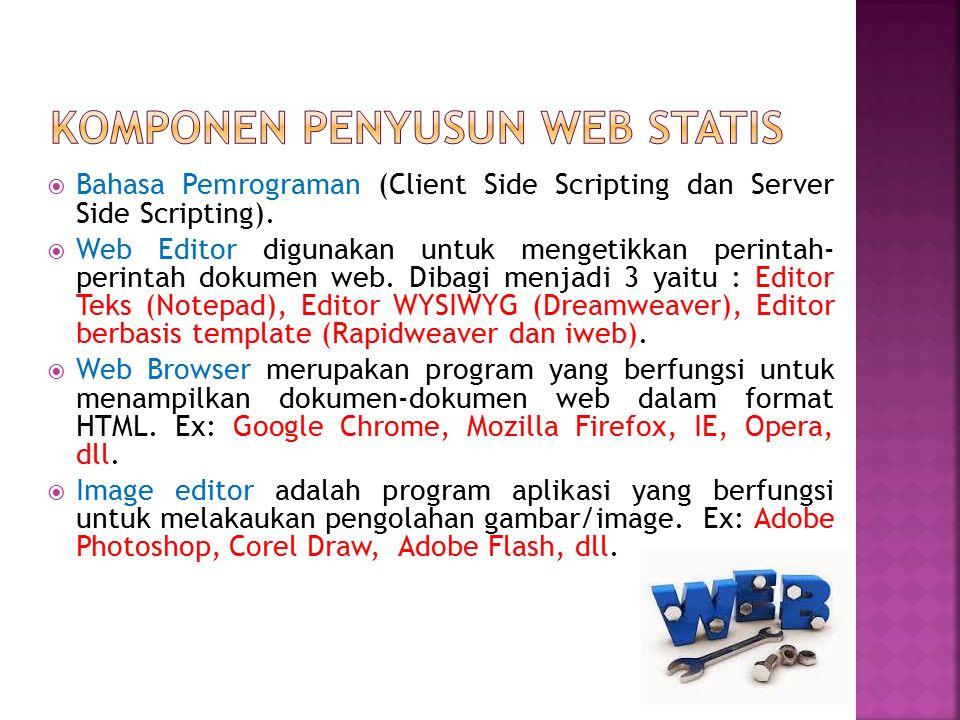Komponen penyusun web Statis
