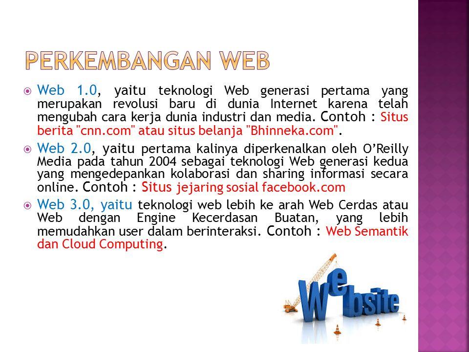 Perkembangan web