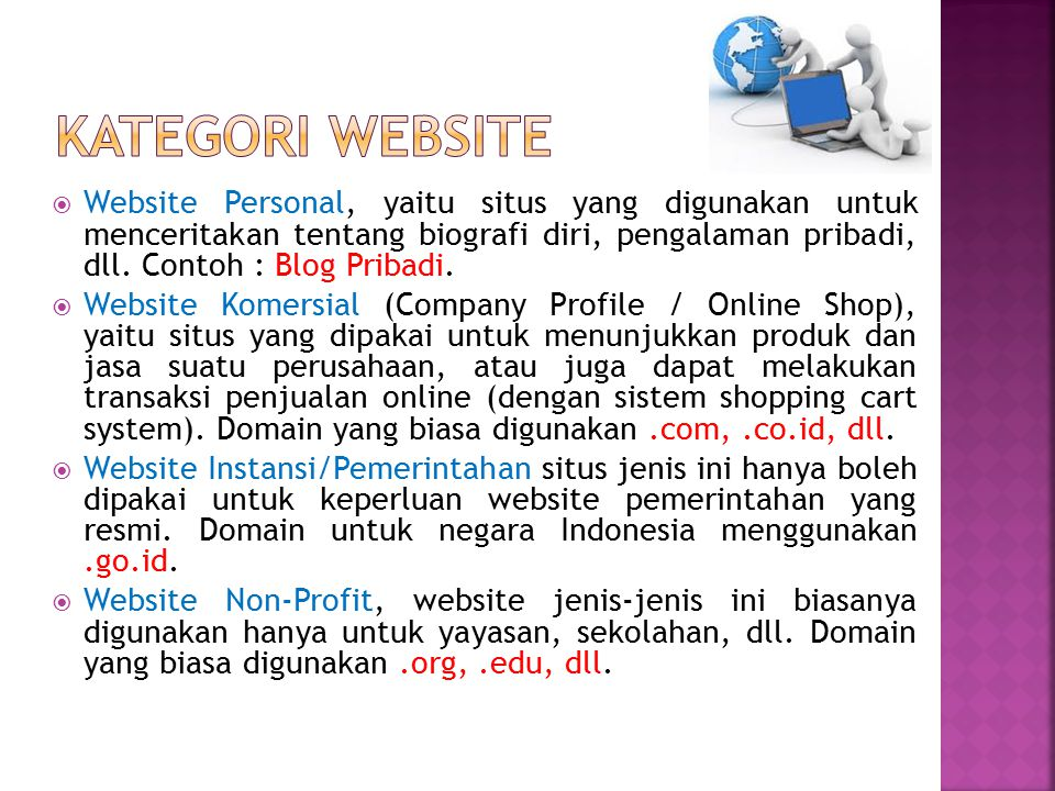 Kategori website