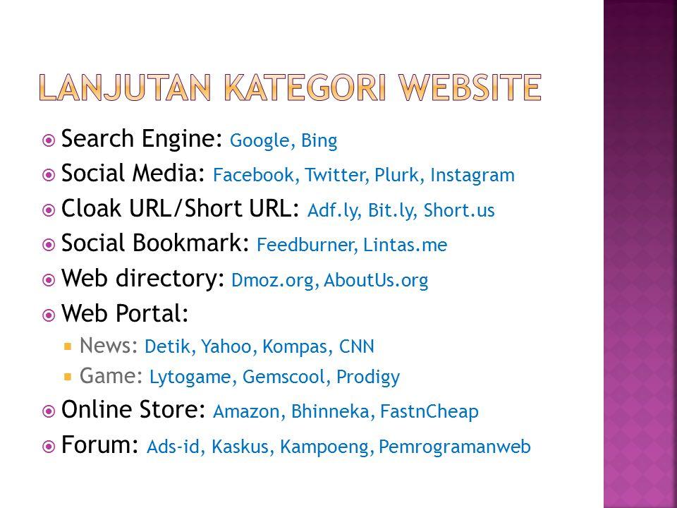 Lanjutan Kategori Website