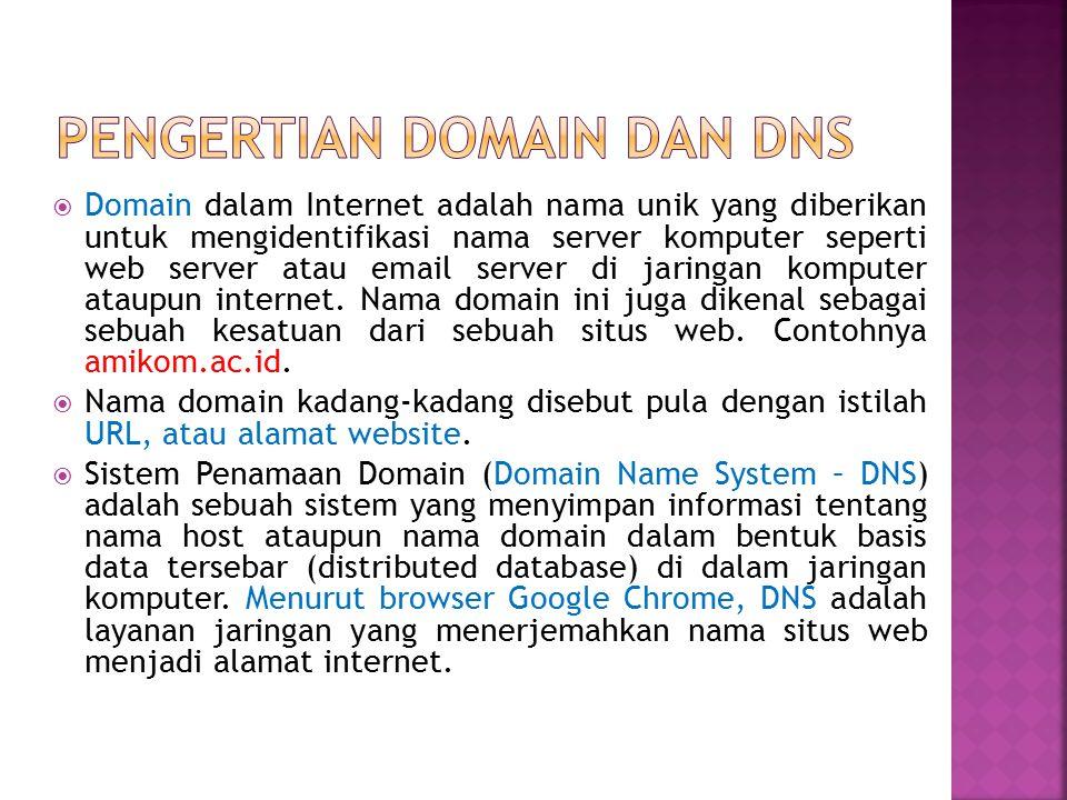 Pengertian Domain dan dns