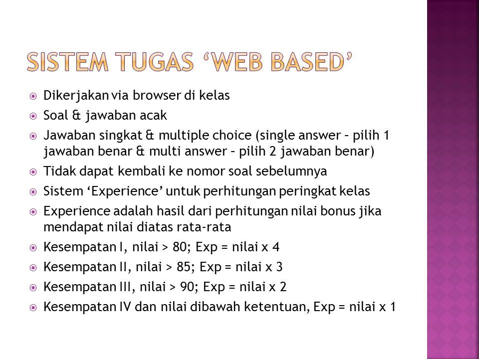 Sistem Tugas 'Web Based'