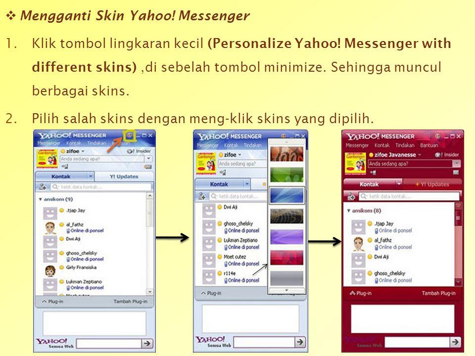 Mengganti Skin Yahoo! Messenger