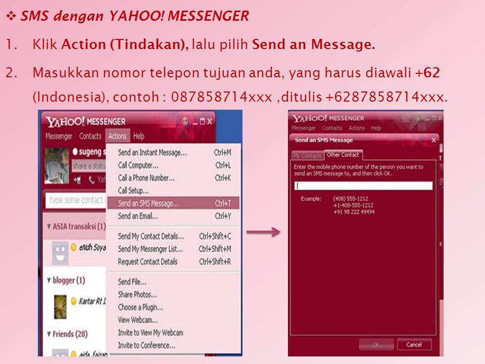 SMS dengan YAHOO! MESSENGER