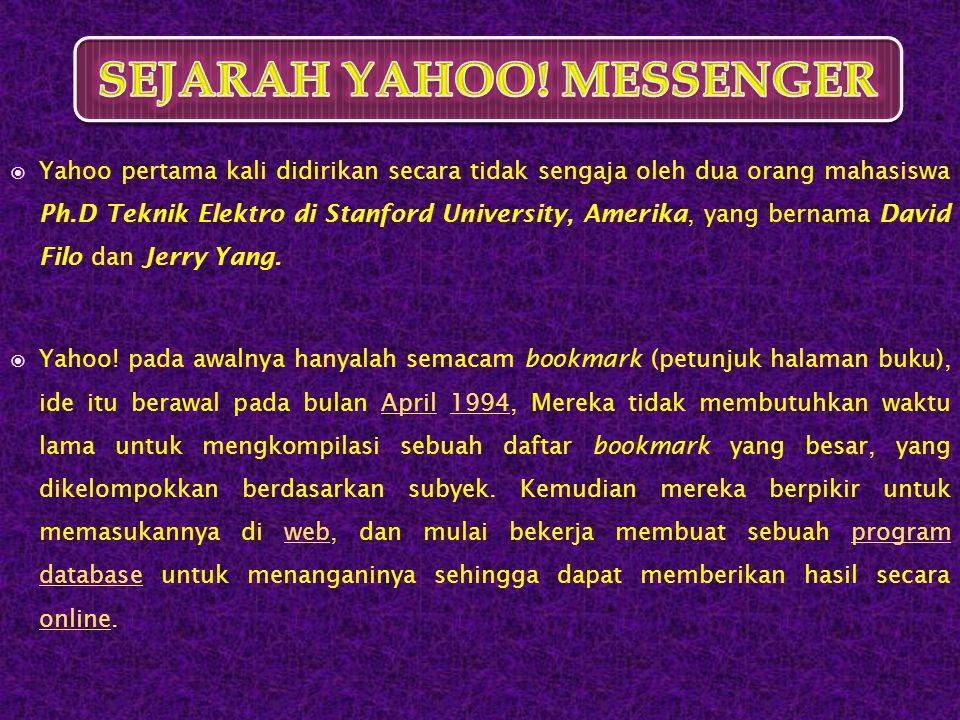 SEJARAH YAHOO MESSENGER