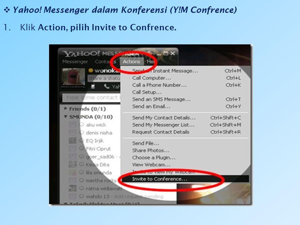 Yahoo! Messenger dalam Konferensi (Y!M Confrence)