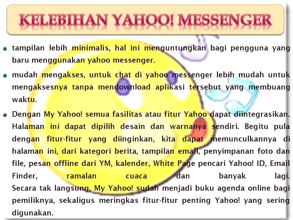 C. KELEBIHAN YAHOO MESSENGER