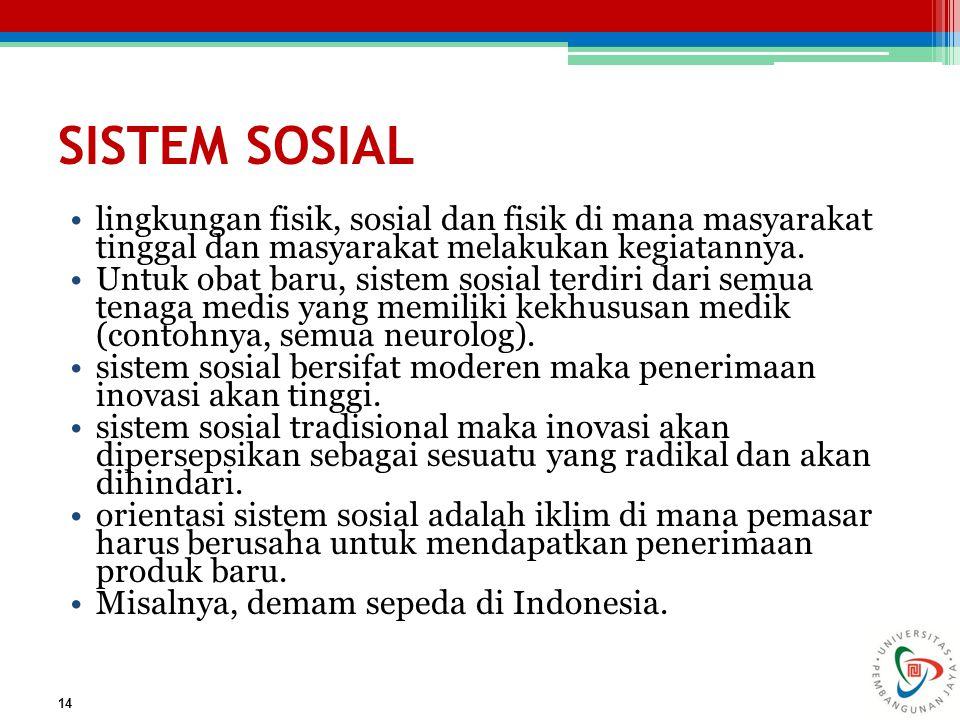SISTEM SOSIAL lingkungan fisik, sosial dan fisik di mana masyarakat tinggal dan masyarakat melakukan kegiatannya.