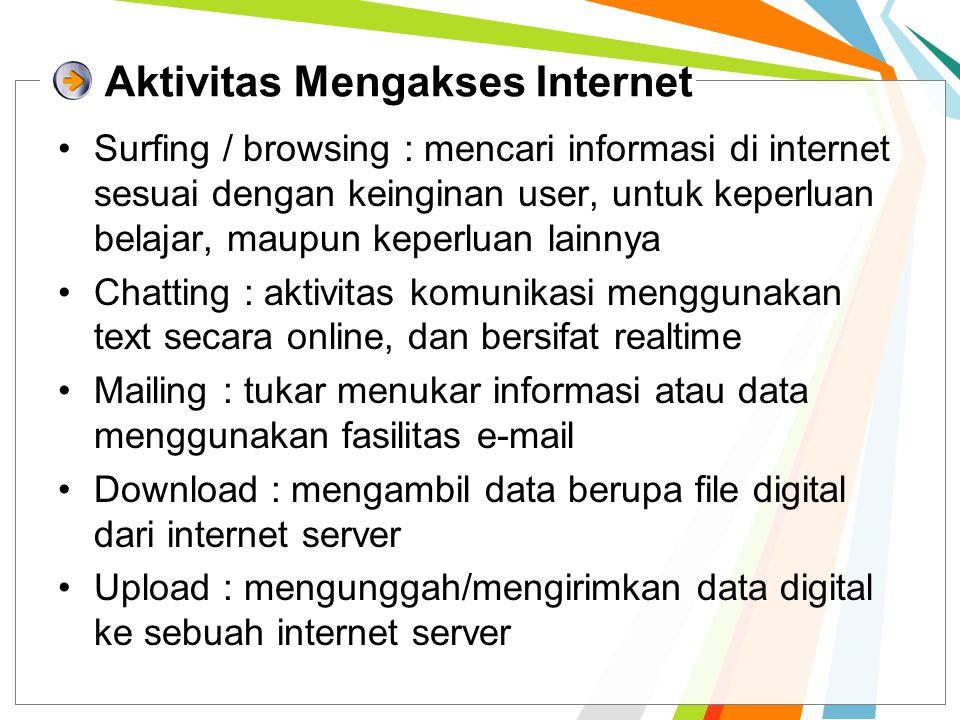 Aktivitas Mengakses Internet