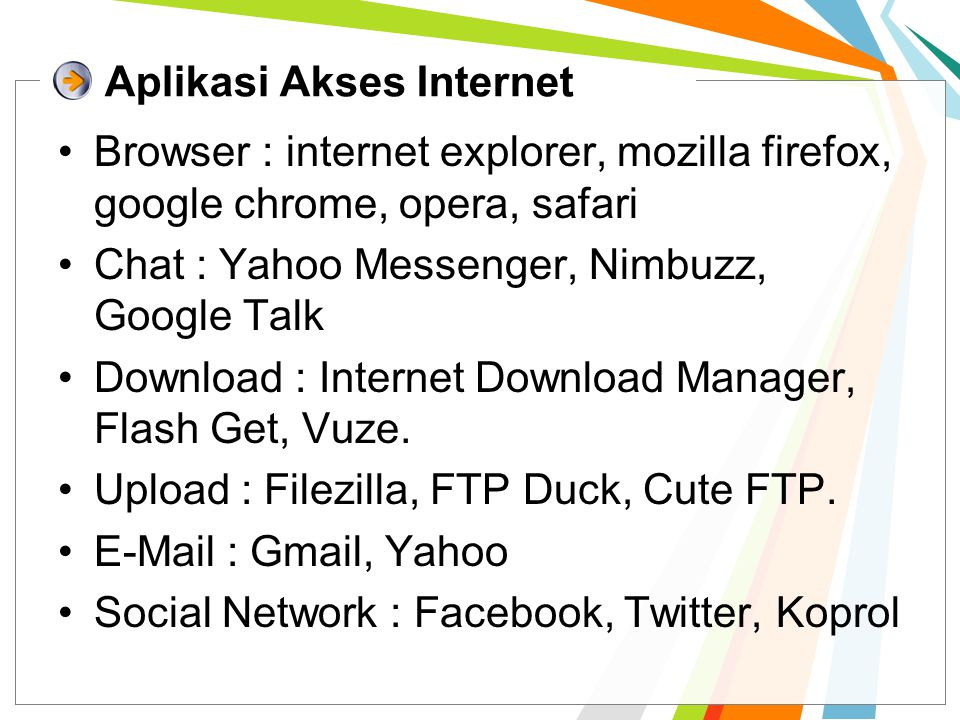Aplikasi Akses Internet