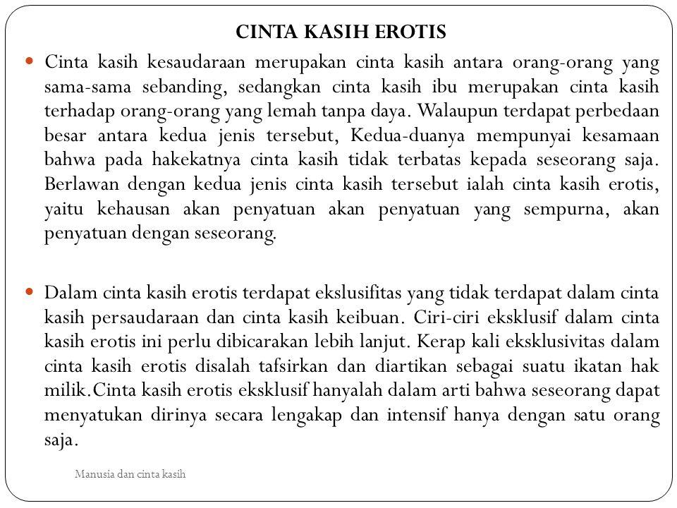 CINTA KASIH EROTIS
