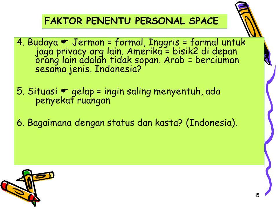 FAKTOR PENENTU PERSONAL SPACE