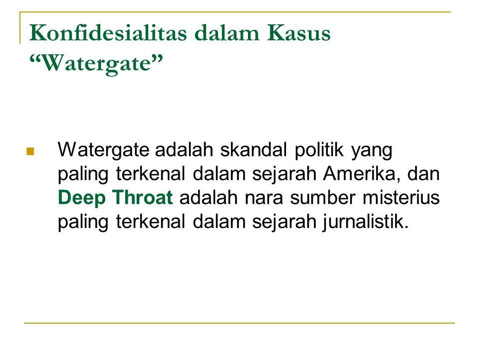 Konfidesialitas dalam Kasus Watergate