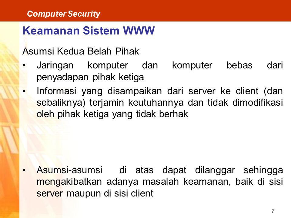 Keamanan Sistem WWW Asumsi Kedua Belah Pihak