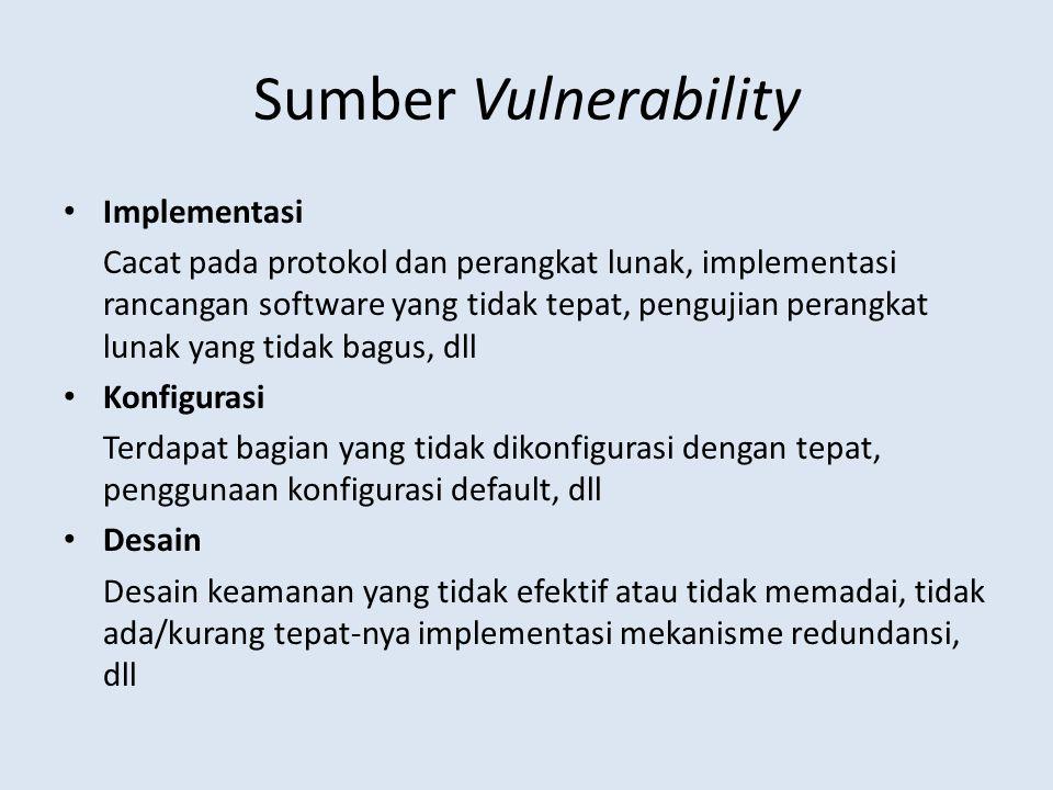 Sumber Vulnerability Implementasi
