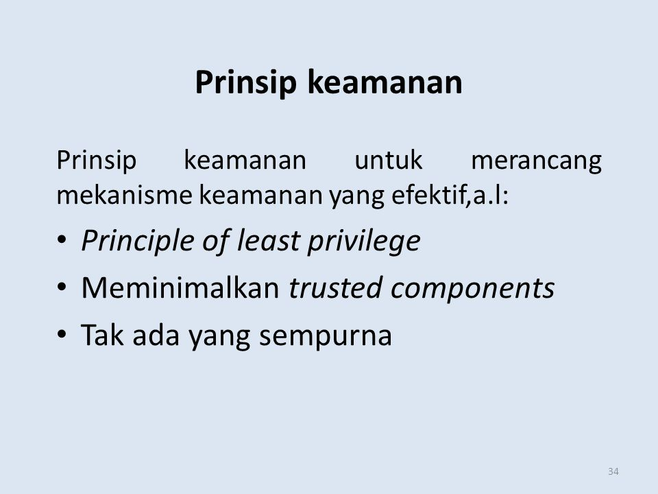Prinsip keamanan Principle of least privilege