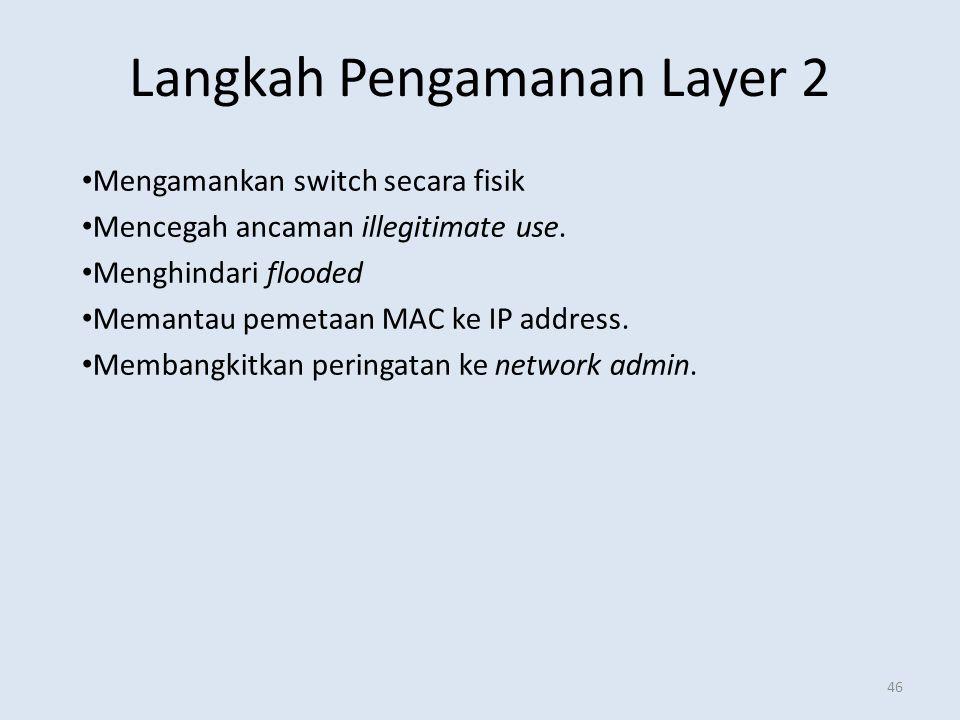 Langkah Pengamanan Layer 2