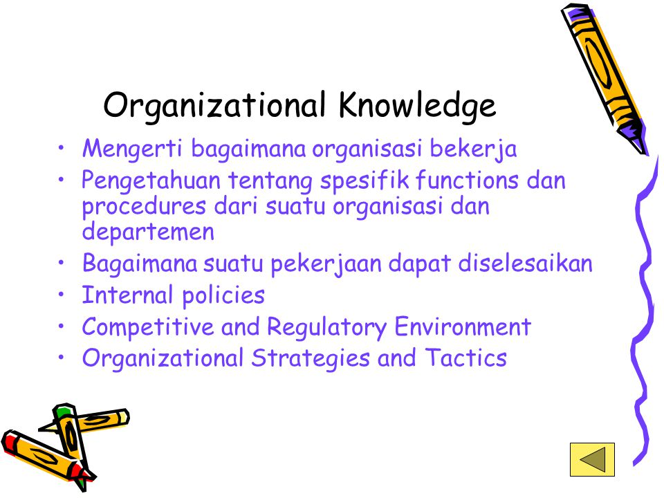 Organizational Knowledge