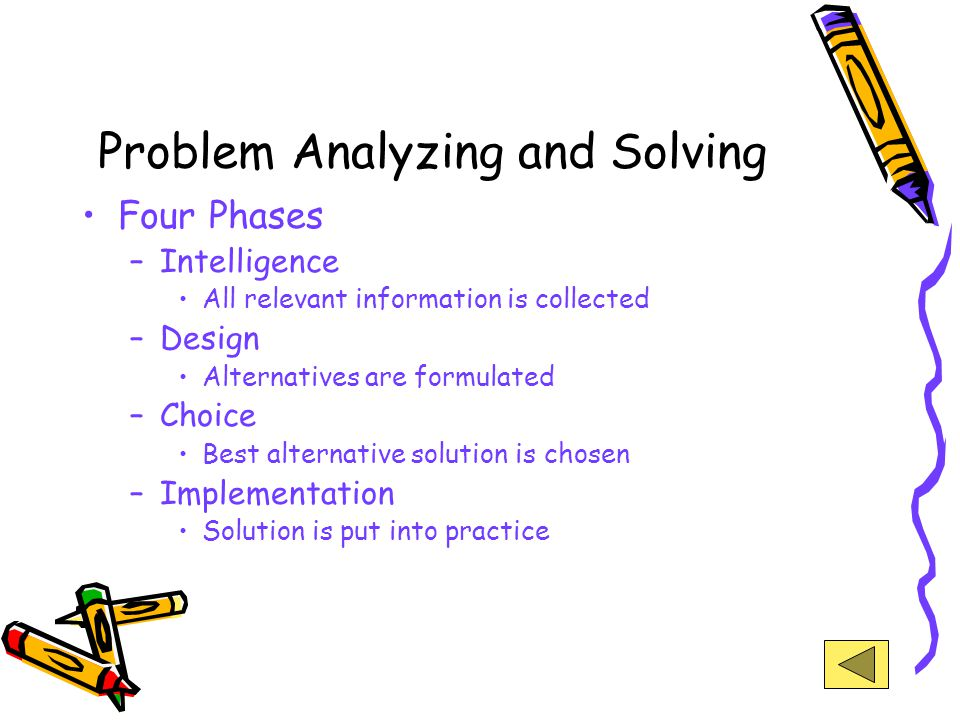 Problem Analyzing and Solving