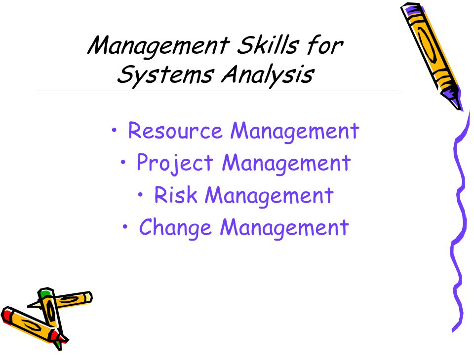 Management Skills for Systems Analysis
