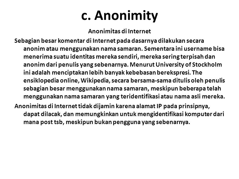 Anonimitas di Internet