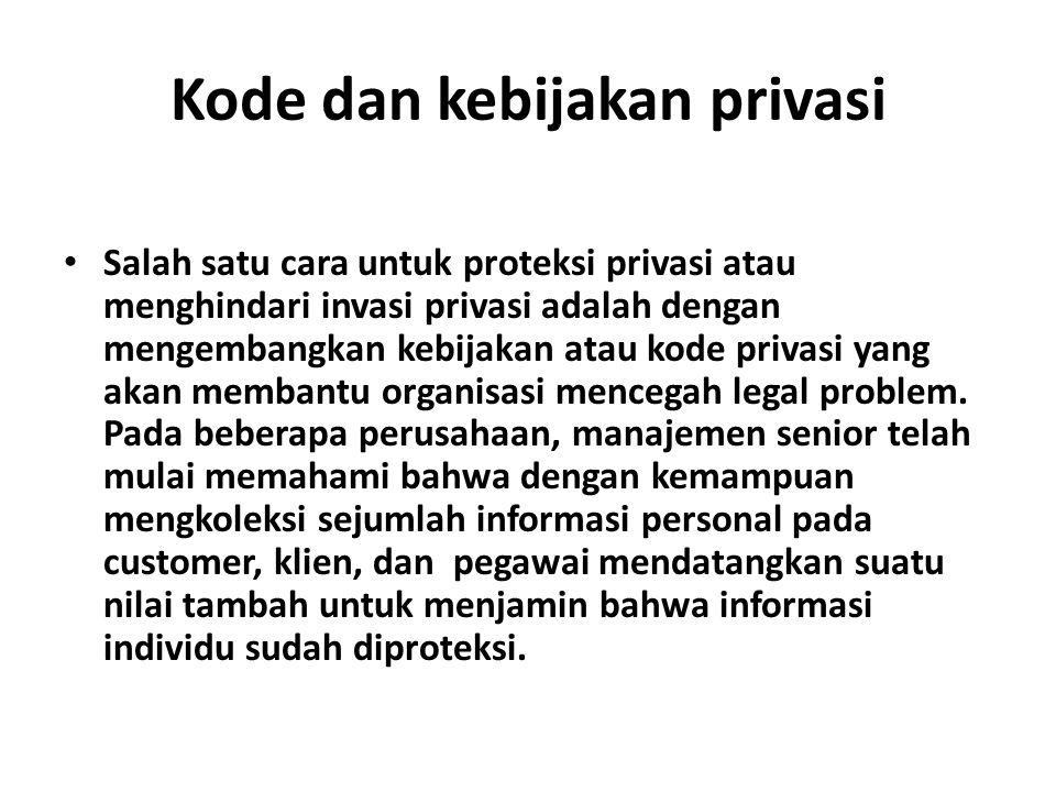 Kode dan kebijakan privasi