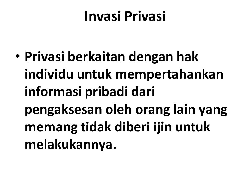 Invasi Privasi