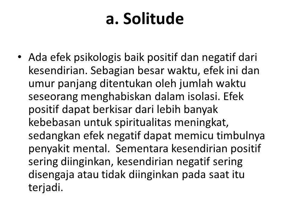 a. Solitude