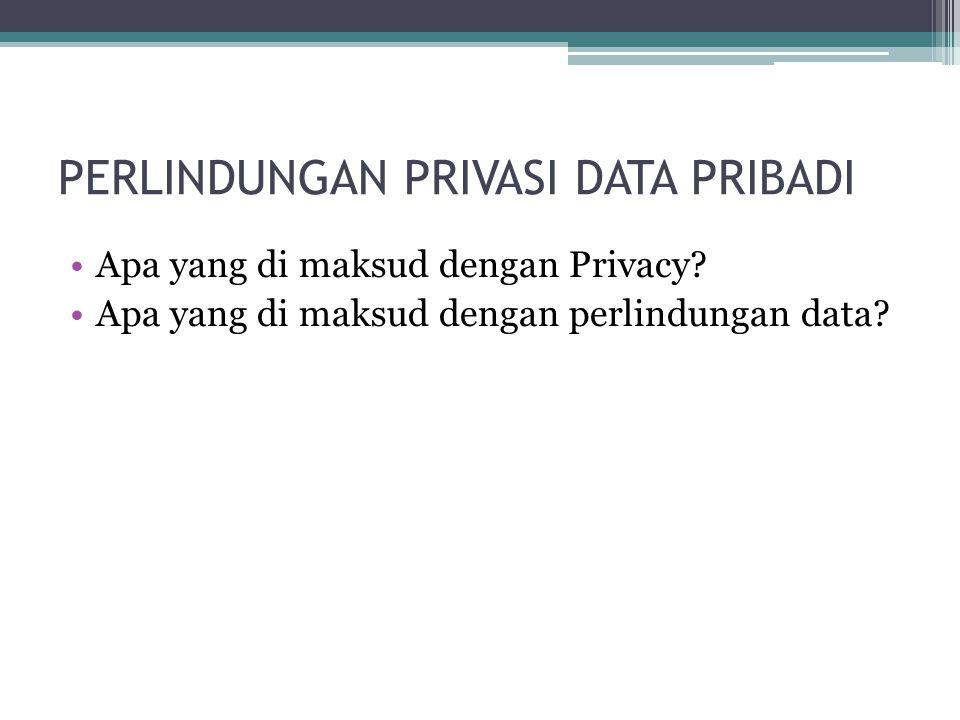 PERLINDUNGAN PRIVASI DATA PRIBADI
