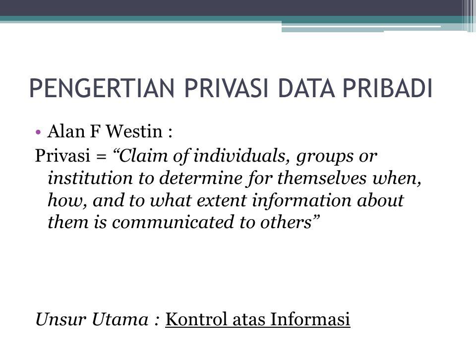 PENGERTIAN PRIVASI DATA PRIBADI