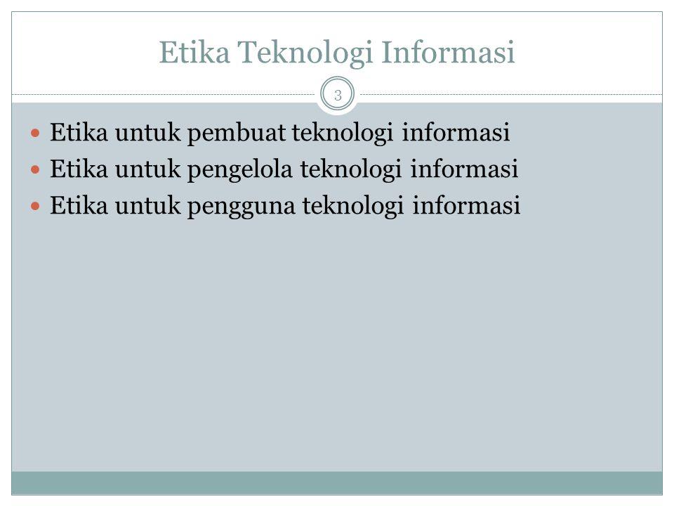 Etika Teknologi Informasi