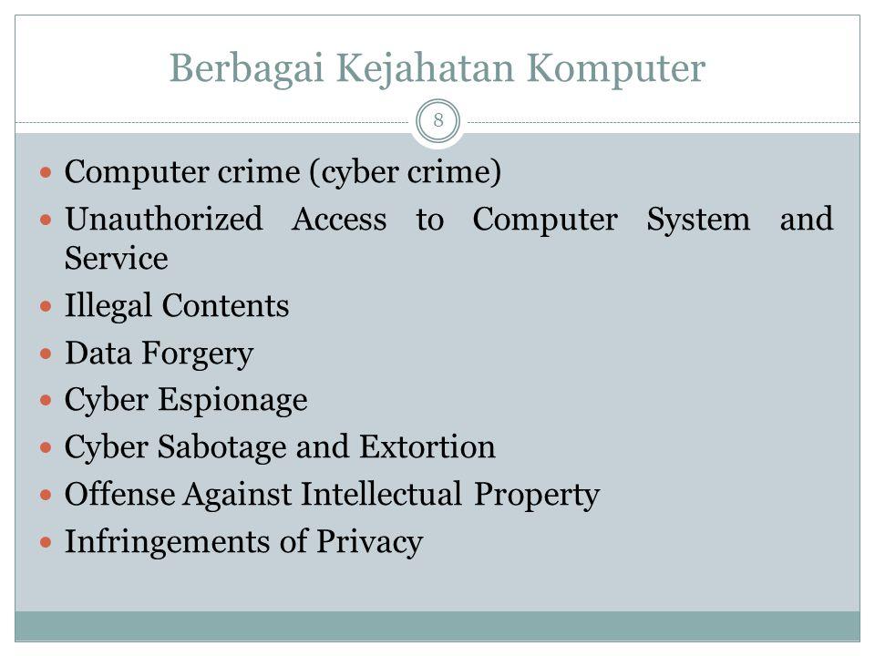 Berbagai Kejahatan Komputer