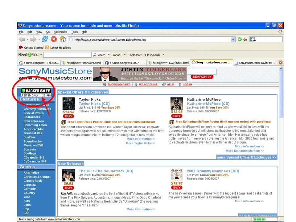 Situs dengan Sertifikasi Hacker Safe