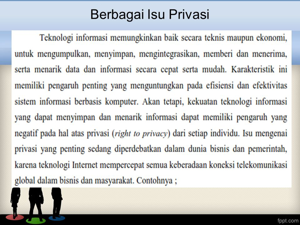 Berbagai Isu Privasi