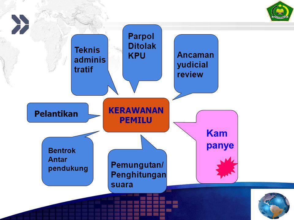 Kam panye Parpol Ditolak KPU Teknis adminis Ancaman tratif yudicial